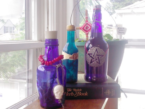 Blue Fairy Bottles by Sara Star